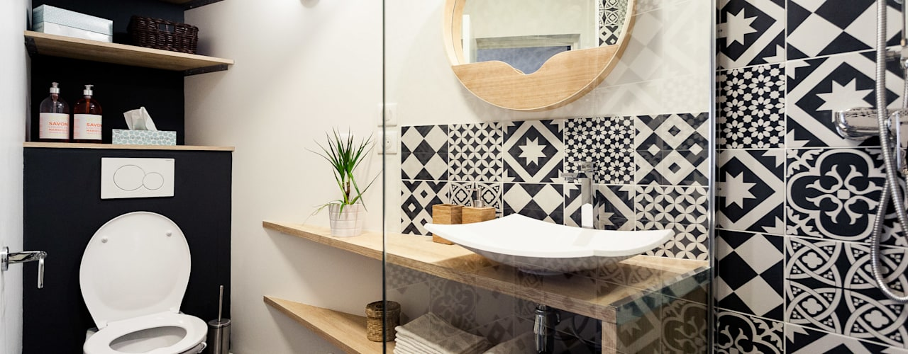 scandinavian Bathroom by MadaM Architecture