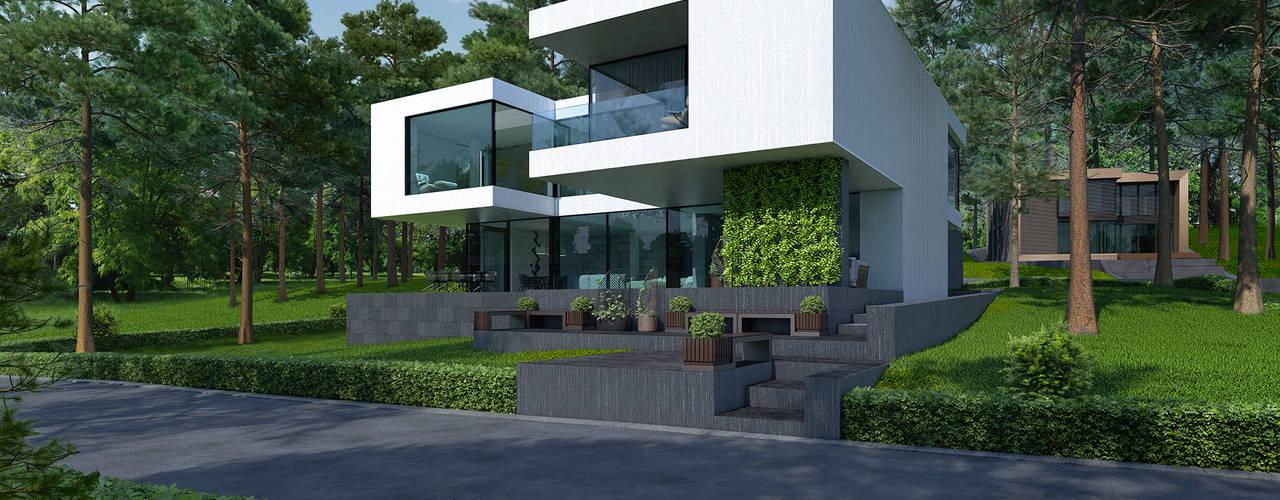 Minimalist houses by ALEXANDER ZHIDKOV ARCHITECT Minimalist