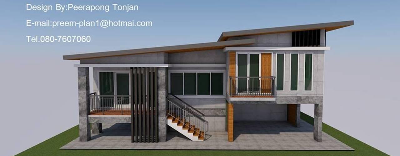 บ้าน1ชั้น ยกสูง โดย รับเขียนแบบบ้าน&ออกแบบบ้าน โมเดิร์น