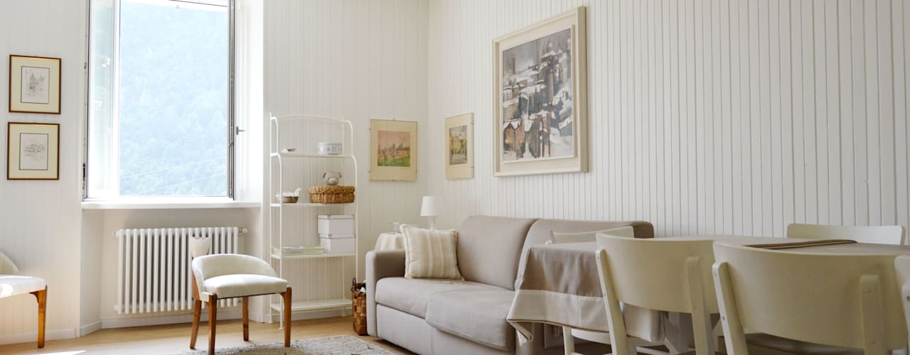 Scandinavian style living room by giorgio davide manzoni Scandinavian