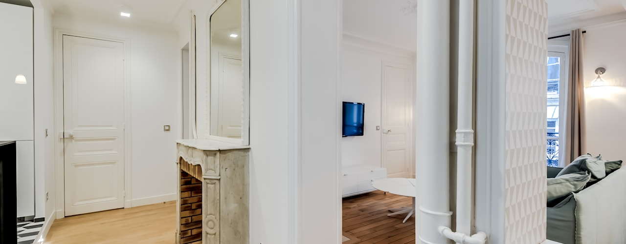 Corridor, hallway by ATELIER FB, Modern