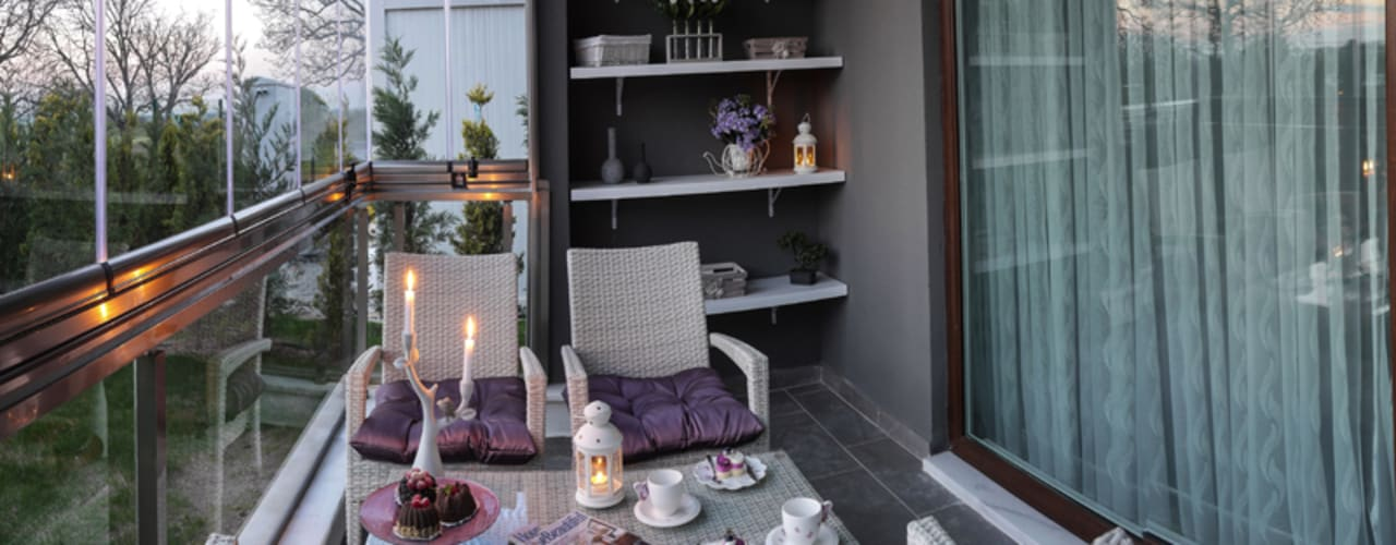 TrioParkKonut Çorlu - Örnek Daire Modern Balkon, Veranda & Teras MAG Tasarım Mimarlık Modern