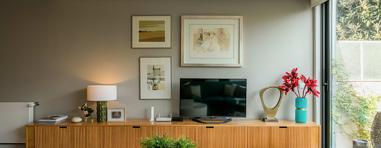 Moradia Bairro dos Músicos Franca Arquitectura Salas de estar modernas
