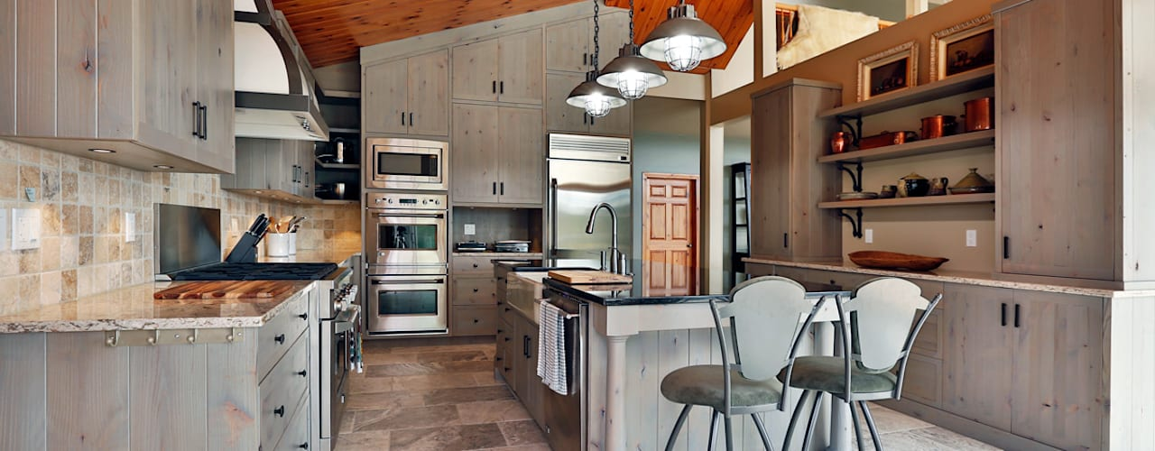 Lake of the woods cottage Modern kitchen by Unit 7 Architecture Modern