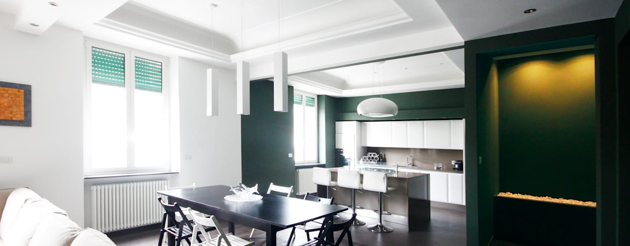 Andrea Orioli Minimalist living room Green