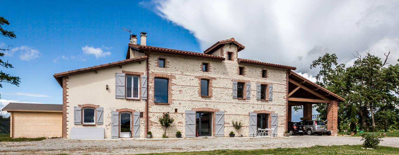 MAISON MAZERES Maisons modernes par Hugues TOURNIER Architecte Moderne