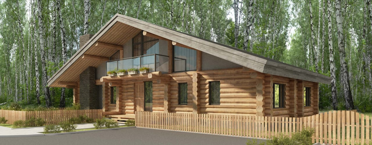 Country style house by Тимберлог Timberlog Country