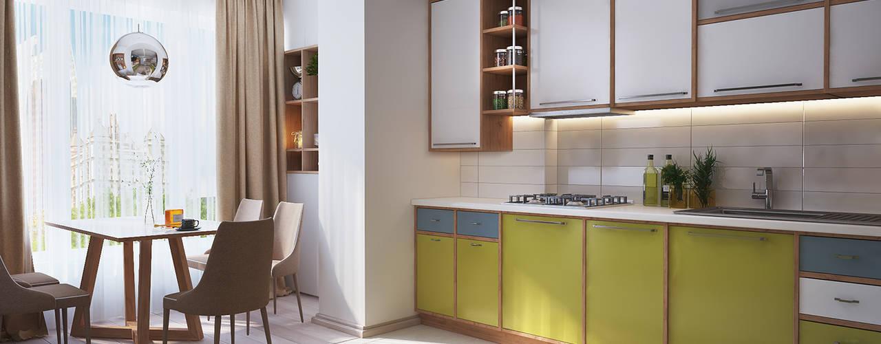 Nhà bếp phong cách tối giản bởi Polygon arch&des Tối giản