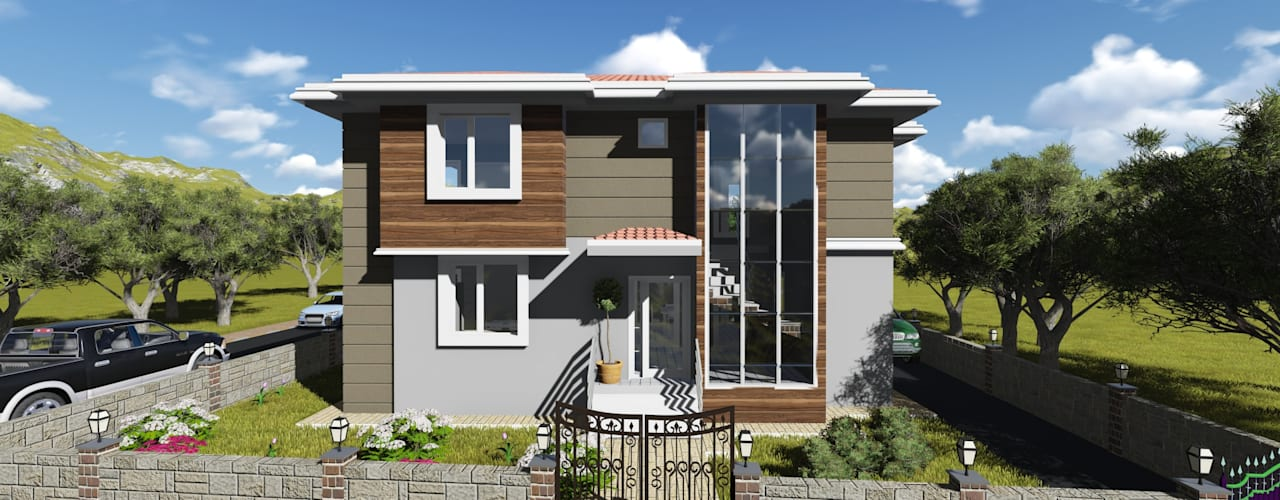 Modern Houses by alfa mimarlık Modern