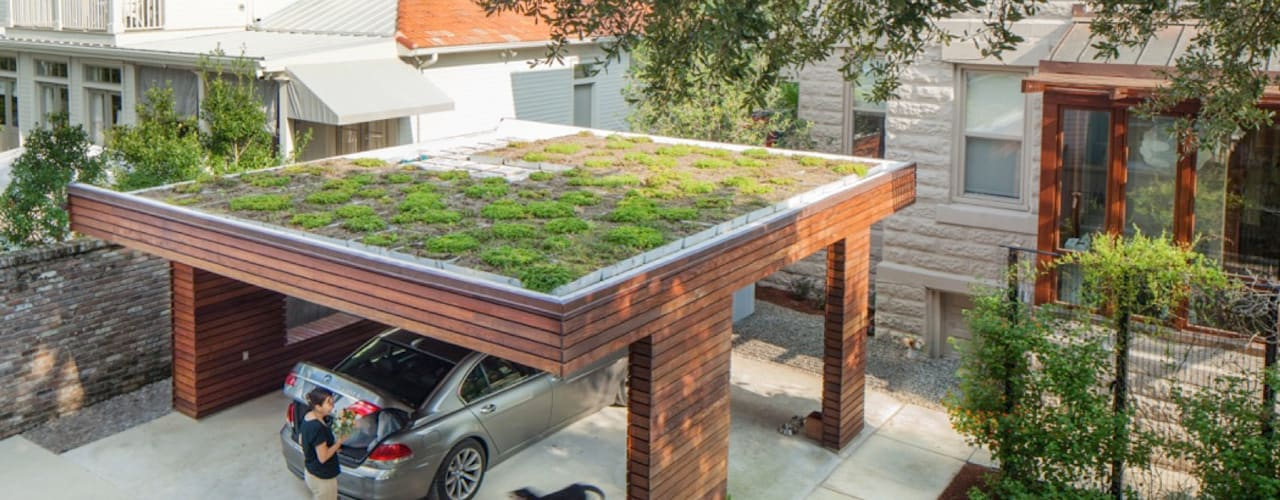 City Park Residence + Carport, New Orleans Modern Garage and Shed by studioWTA Modern