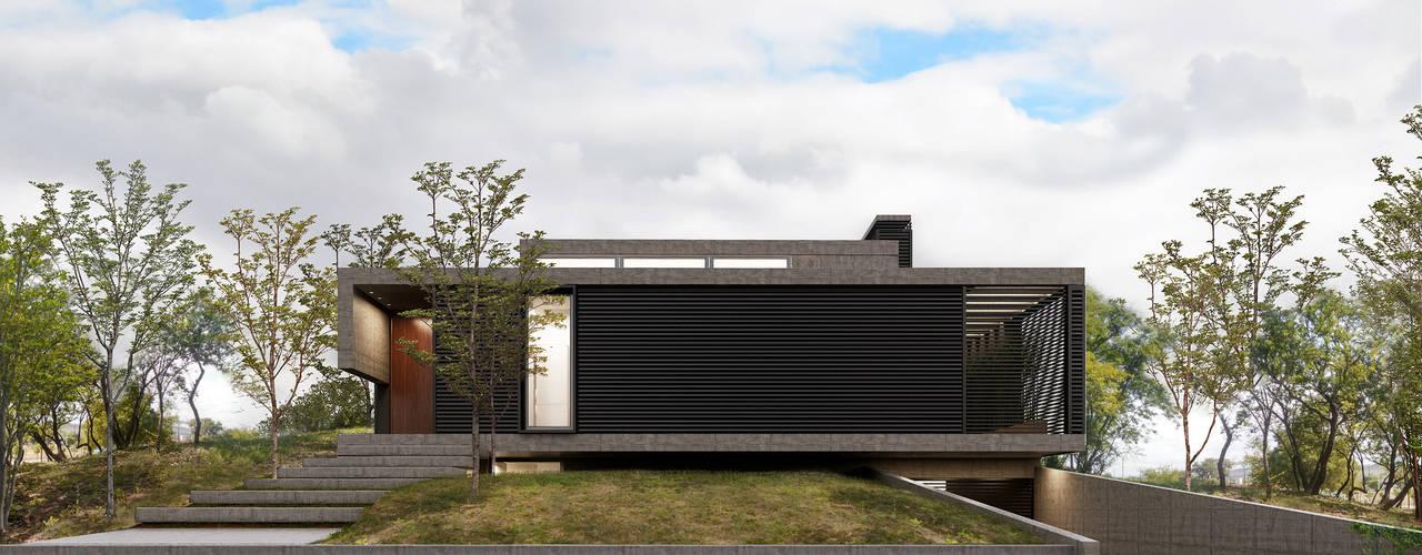 Diseño de Casa en Tejas Cuatro por 1.61 Arquitectos Casas minimalistas de 1.61 Arquitectos Minimalista