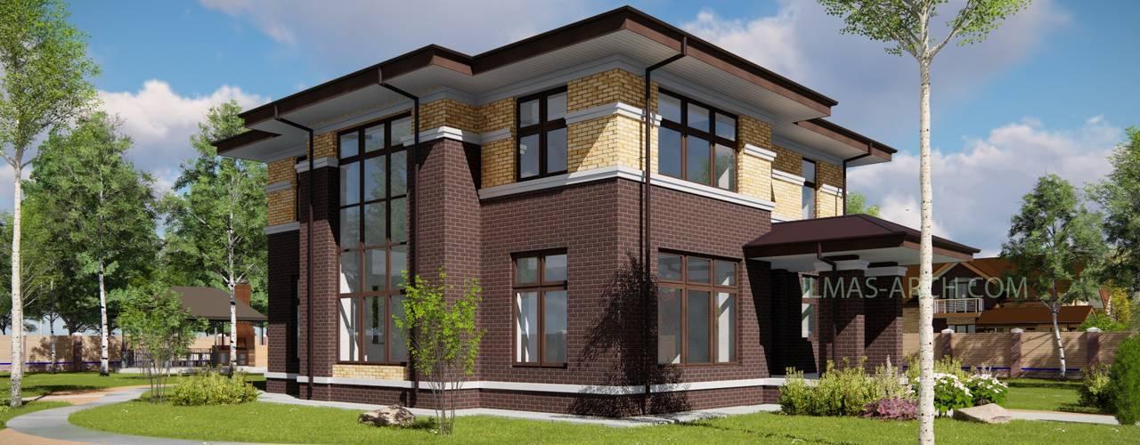 Проект загородного дома в стиле Райта (Прерий): Дома в . Автор – Ильмас Хисамутдинов,