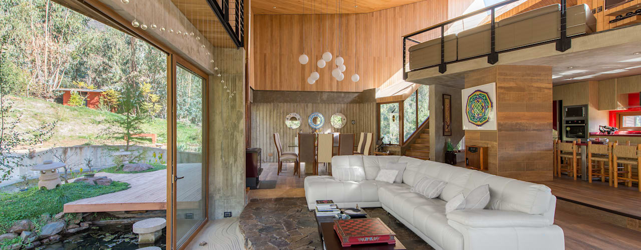 Casa El Maqui Livings de estilo moderno de GITC Moderno