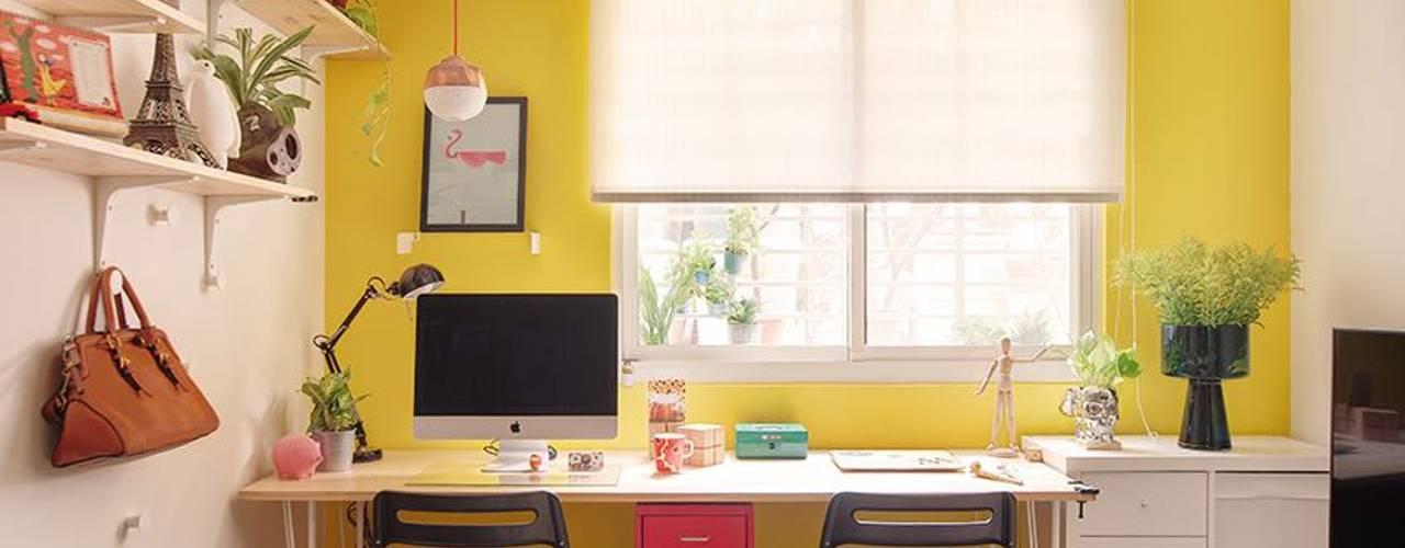 scandinavian Study/office by 一葉藍朵設計家飾所 A Lentil Design