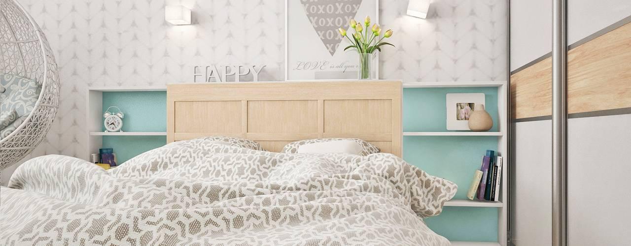 Спальня 2 Family Place: Спальни в . Автор – Ирина Рожкова - частный дизайнер интерьера