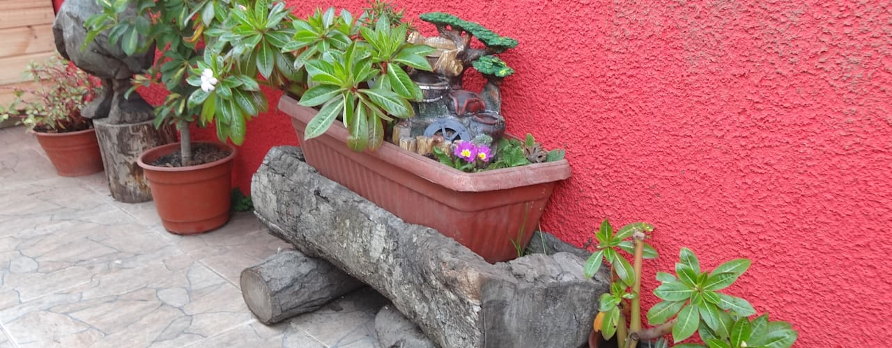 Casa Interior familia Espinoza - Chile: Jardines de estilo  por Feng Shui y Arquitectura