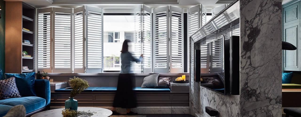 Puertas y ventanas clásicas de DYD INTERIOR大漾帝國際室內裝修有限公司 Clásico
