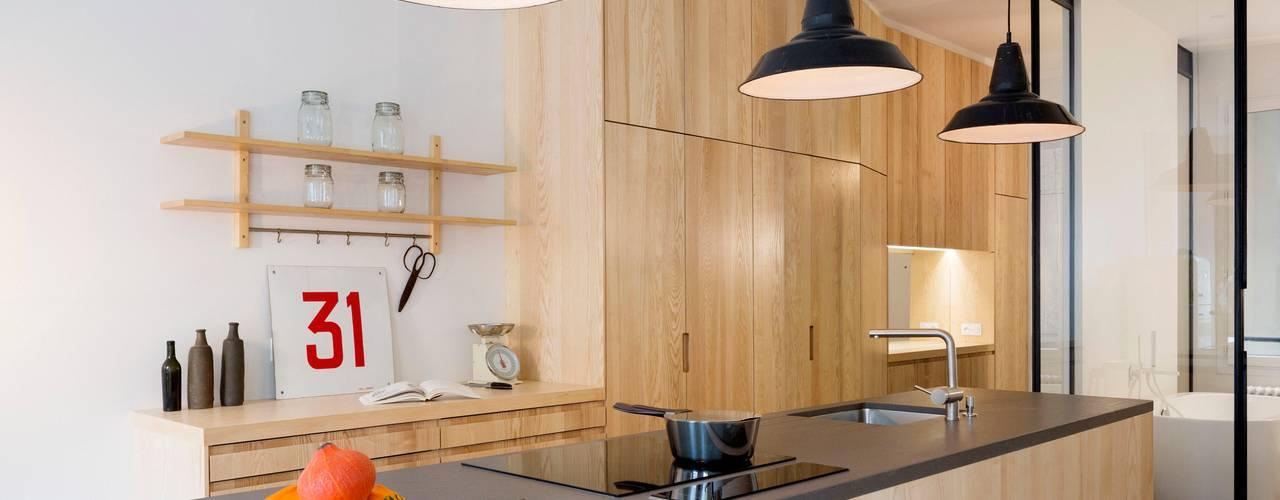 Cocinas de estilo industrial de MELANIE LALLEMAND ARCHITECTURES Industrial