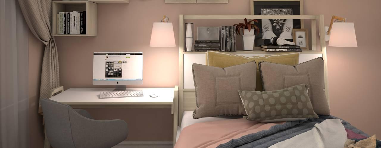 Dormitorios eclécticos de КS-Interiors Ecléctico