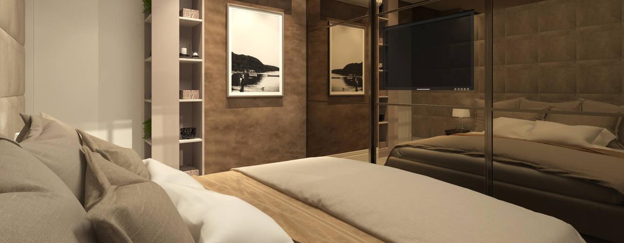 Habitaciones de estilo  por Marina Ortiz - mo arquitetura, Moderno