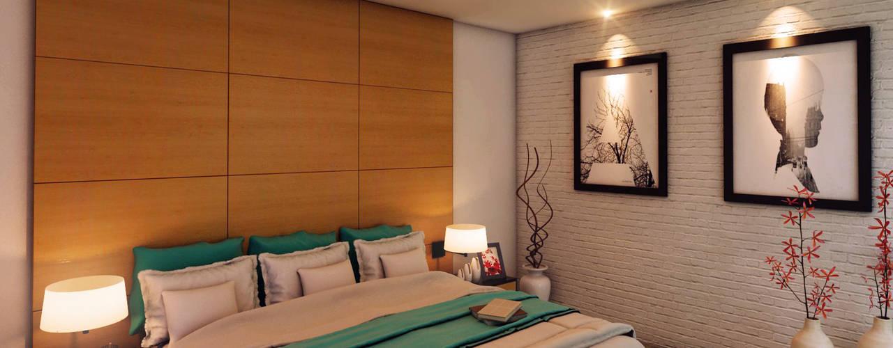 Dormitorios de estilo moderno de GRUPO ESCALA ARQUITECTOS Moderno