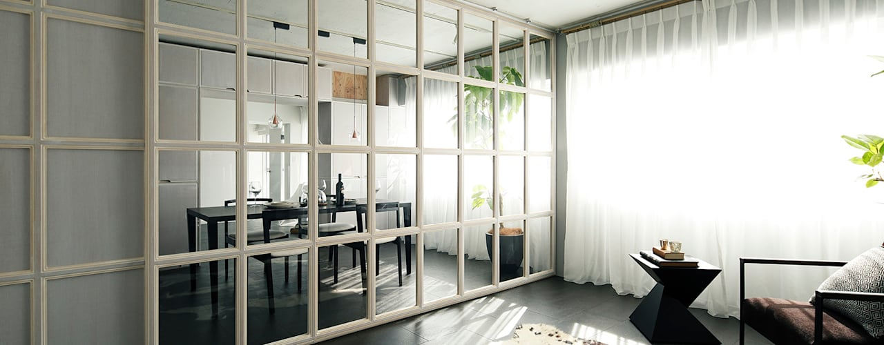 loftofloft 松島潤平建築設計事務所 / JP architects モダンスタイルの寝室 MDF ベージュ