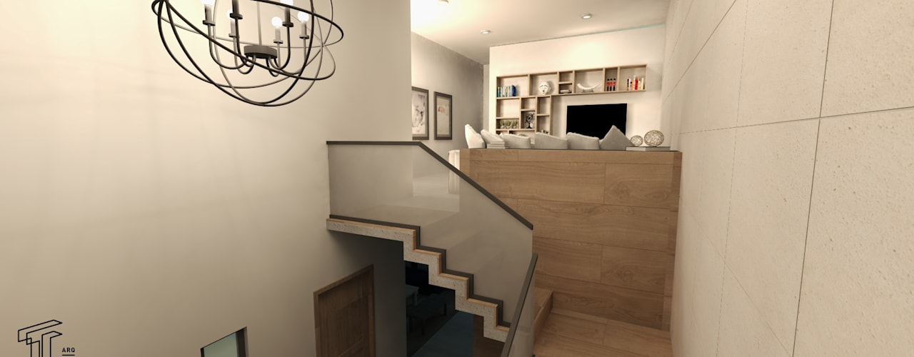 Pasillos y vestíbulos de estilo  de TAMEN arquitectura, Moderno