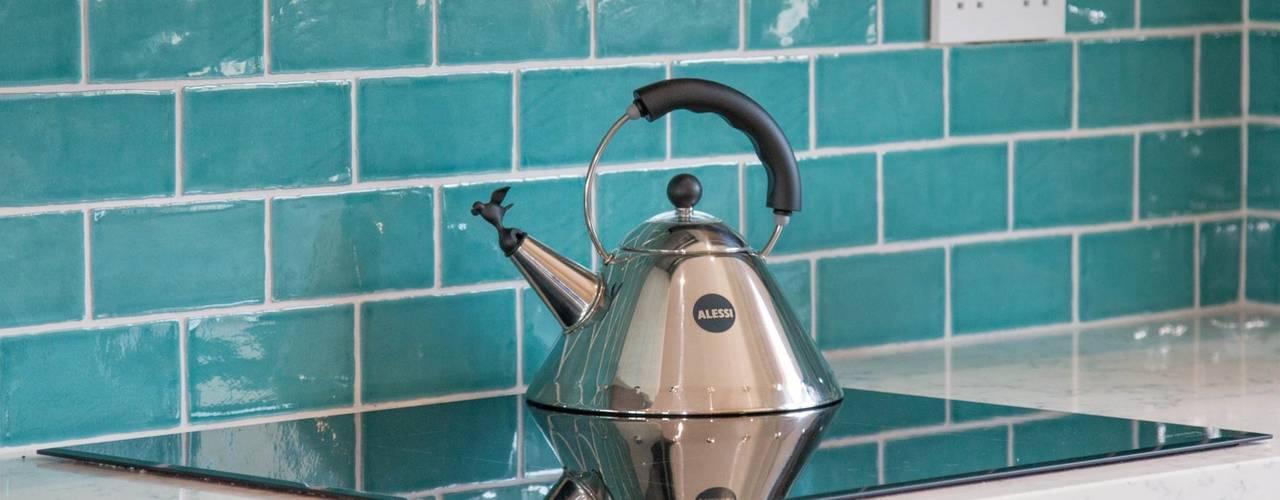 Vibrant Ceramic Tile Splashback :  Kitchen by ADORNAS KITCHENS
