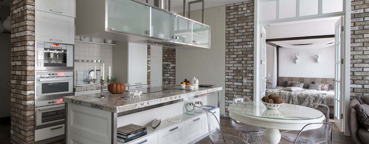 Industrial style kitchen by Irina Derbeneva Industrial