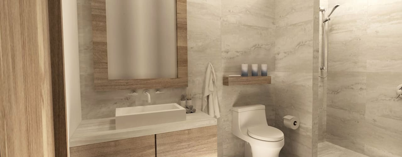 Baños de estilo moderno por TAMEN arquitectura