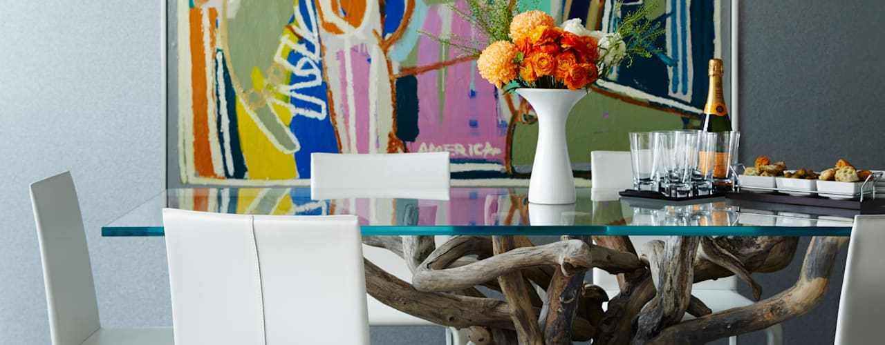 Downtown Pied-a-Terre:  Dining room by Douglas Design Studio
