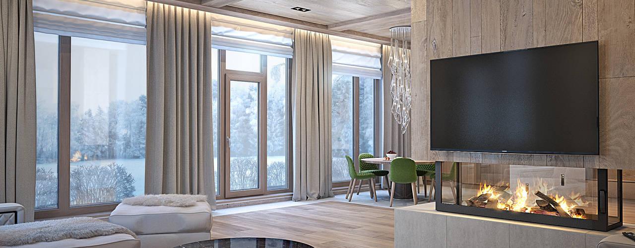Projekty,  Salon zaprojektowane przez премиум интериум
