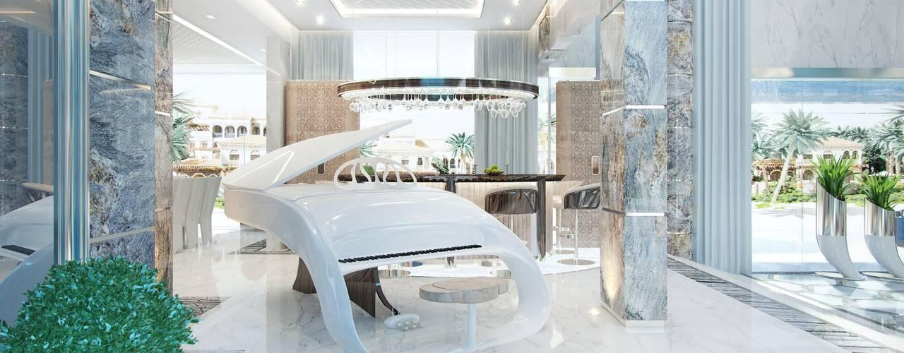 الممر والمدخل تنفيذ Luxury Antonovich Design, حداثي