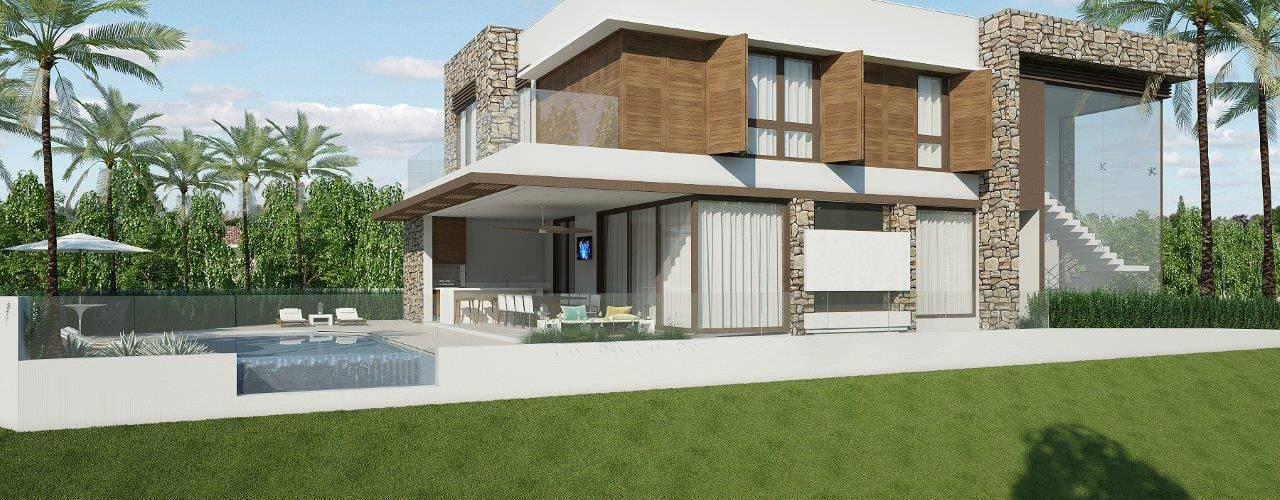 Casas estilo moderno: ideas, arquitectura e imágenes de Quitete&Faria Arquitetura e Decoração Moderno