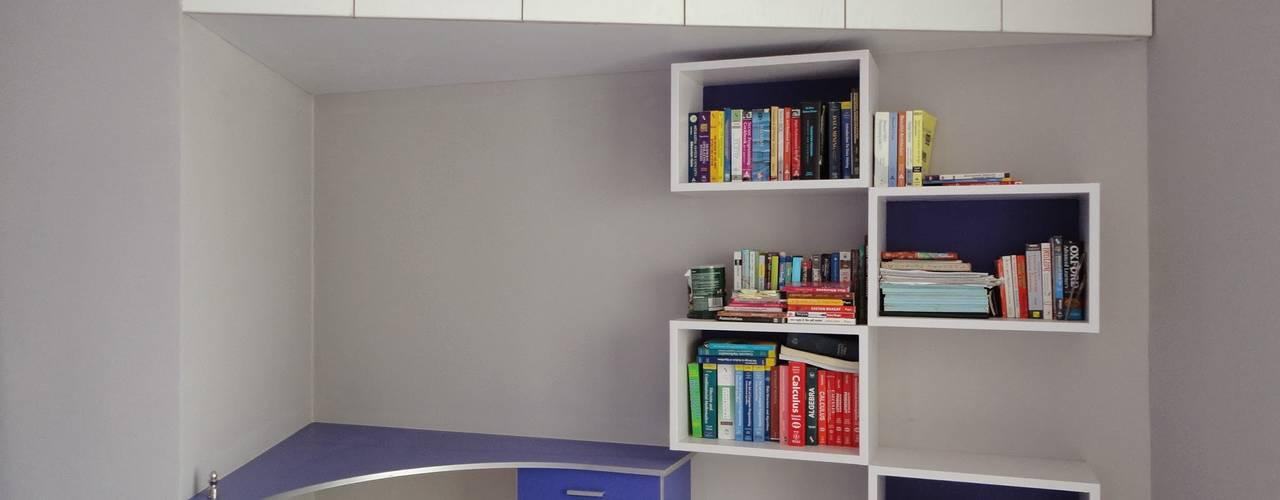 Bangalore Home Interior Portfolio Modern Study Room and Home Office by Nandita Manwani Modern