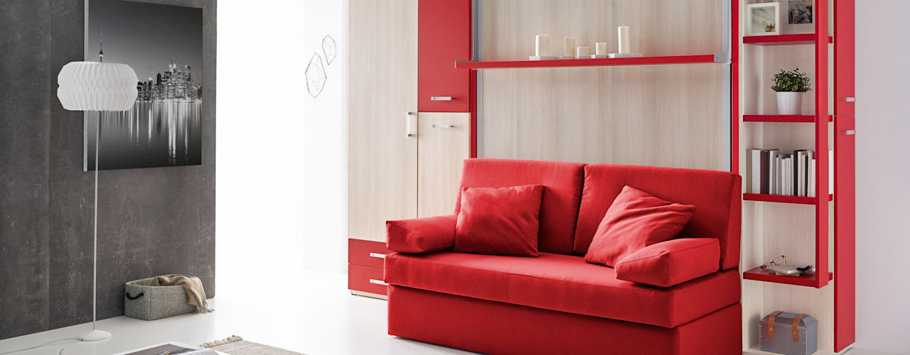 MUEBLES ORTS BedroomBeds & headboards Chipboard Red