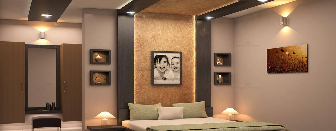 Dormitorios de estilo  por Monnaie Architects & Interiors