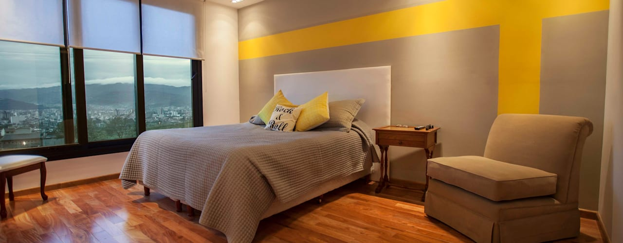 Casa Finca Cuyaya: Dormitorios de estilo  por Horizontal Arquitectos