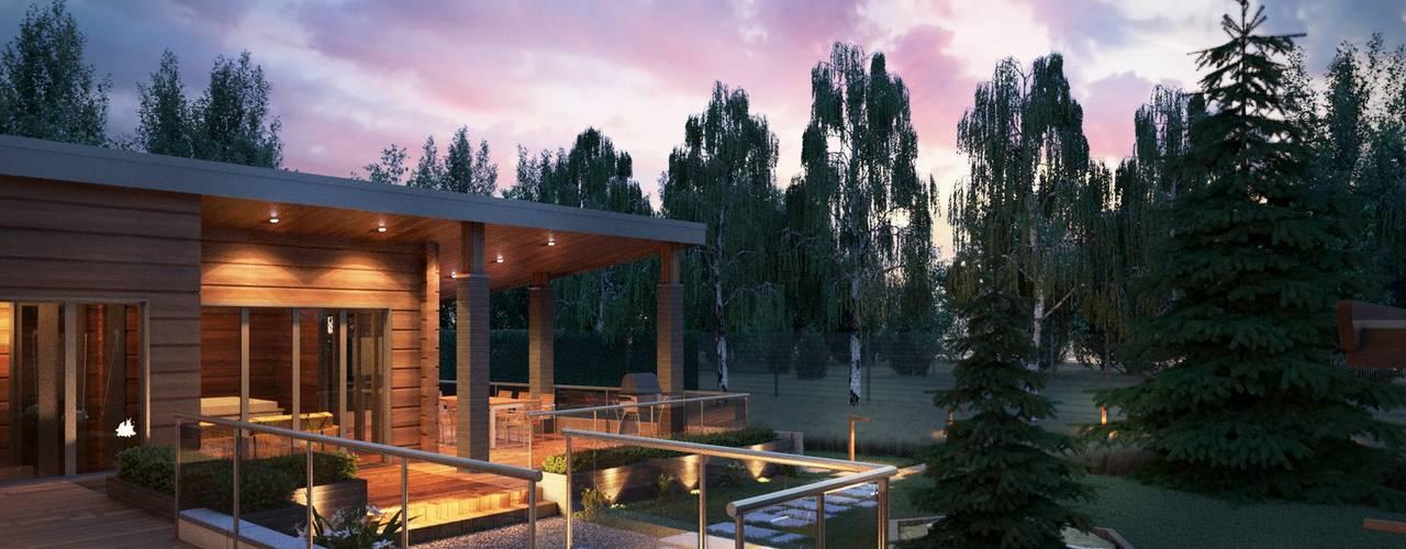 Шале с элементами деконструктивизма: Дома в . Автор – Компания архитекторов Латышевых 'Мечты сбываются'