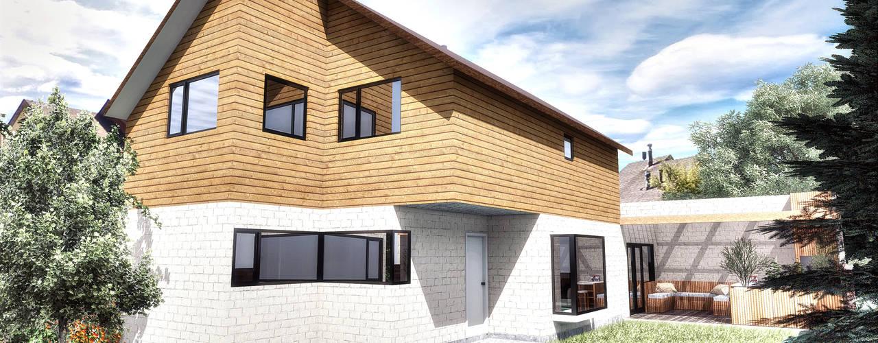 Casa MR2: Casas de estilo moderno por NidoSur Arquitectos