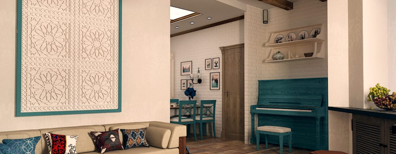 mediterranean Living room by Iv-Eugenie