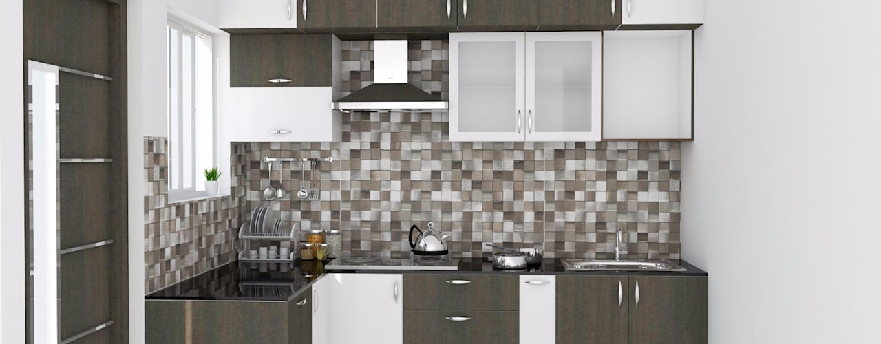 ServiceBELL Solutions PVT Ltd KitchenCabinets & shelves Kayu Lapis Brown
