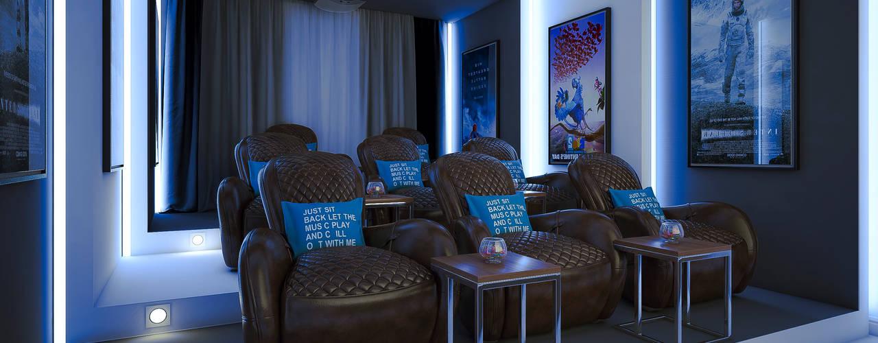 private villa_riyadh_albassateen camp:  غرفة الميديا تنفيذ m.frahat