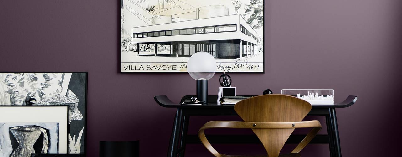 Architects' Finest SCHÖNER WOHNEN-FARBE Moderne Arbeitszimmer Rot