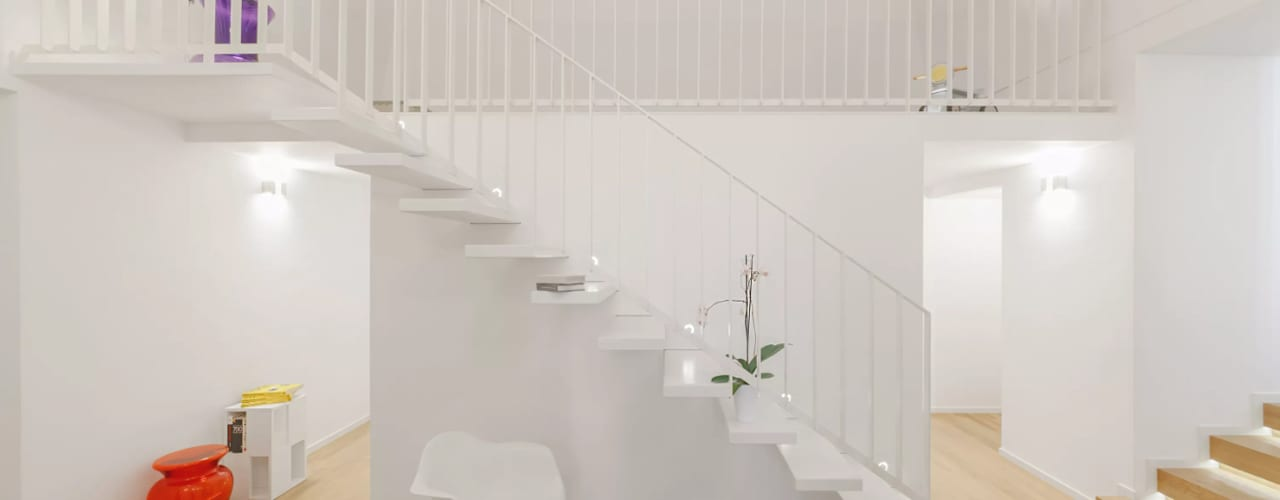Modern Corridor, Hallway and Staircase by salvatore cannito architetto Modern