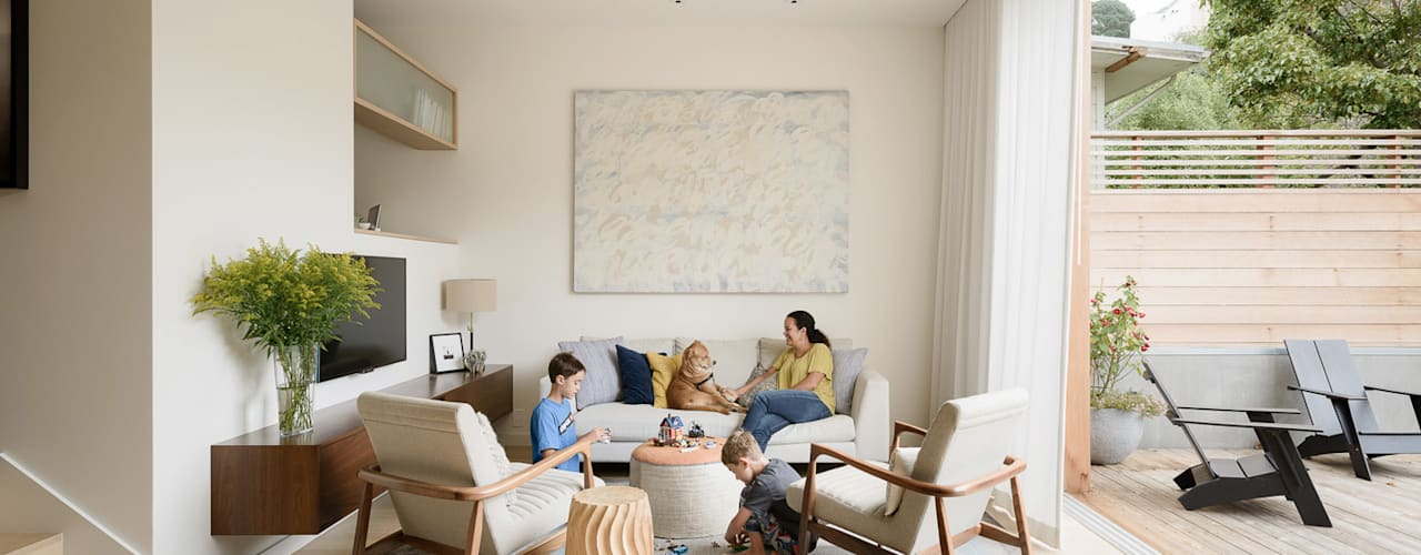 Ruang Keluarga Modern Oleh Feldman Architecture Modern