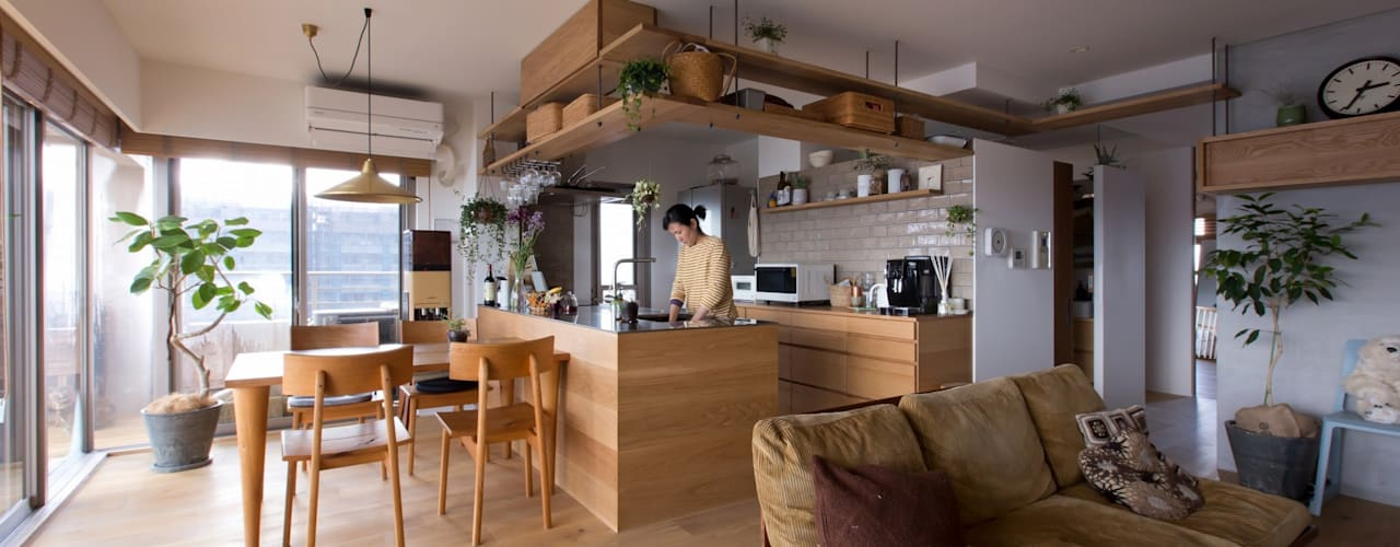 nionohama-apartment-house-renovation: ALTS DESIGN OFFICEが手掛けたキッチンです。,ラスティック