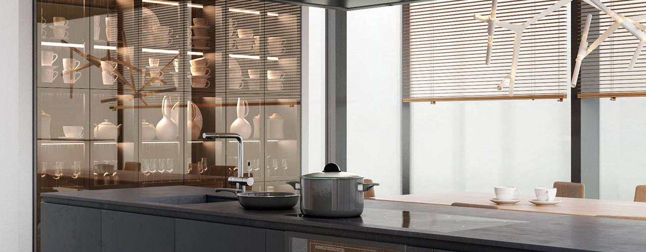 Moderne Küche:  Küche von MIKOLAJSKAstudio