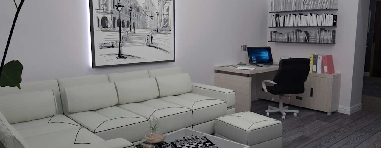 Salas / recibidores de estilo  por СИРИУS Архитектурное бюро
