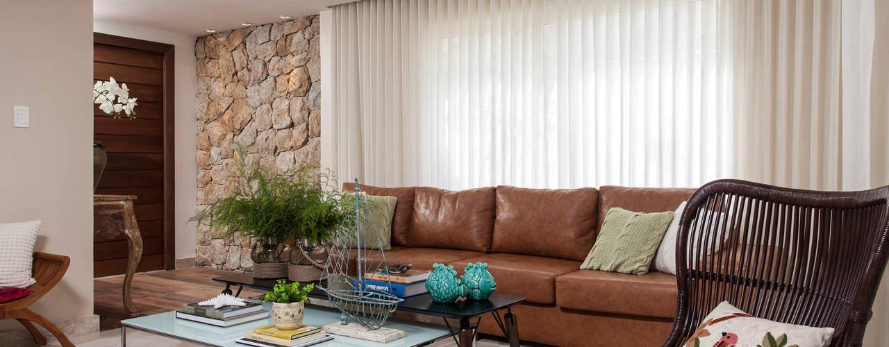 Living room by criarprojetos | ARQUITETURA . INTERIORES . ENGENHARIA